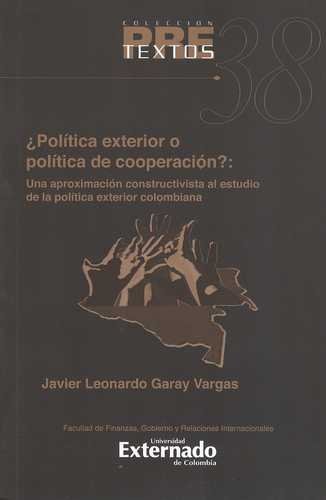Pol tica exterior o pol tica de cooperaci n una for Estudios de politica exterior