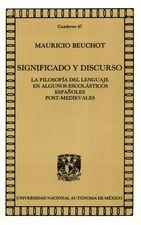 Significado y discurso. La filosofía del lenguaje en algunos escolásticos españoles post.medievales