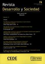 Revista Desarrollo y Sociedad No.74 Edición especial sobre Educación