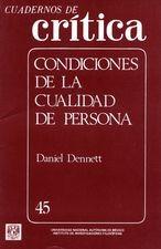 Cuadernos de crítica 45. Condiciones de la cualidad de persona