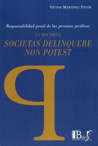 La Doctrina societas delinquere non potest | comprar en libreriasiglo.com