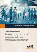 Derecho de información en las sociedades mercantiles capitalistas, El