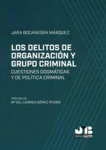 Delitos de organicación y grupo criminal. Cuestiones dogmáticas y de política criminal, Los