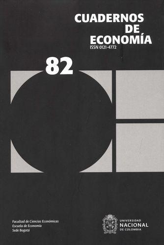 Rev. Cuadernos de economía No.82   comprar en libreriasiglo.com