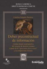 """Deber precontractual de información. Límites desde la perspectiva del sistema de derecho romano a partir de la """"ignorantia facti et iuris"""""""
