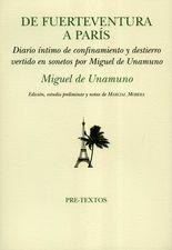 De Fuerteventura a París. Diario íntimo de confinamiento y destierro vertido en sonetos por Miguel de Unamuno
