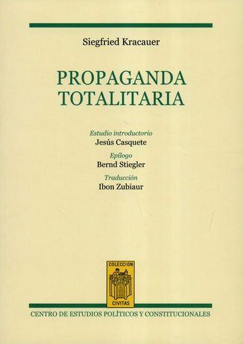 Propaganda totalitaria | comprar en libreriasiglo.com