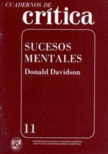 Cuadernos de crítica 11. Sucesos mentales